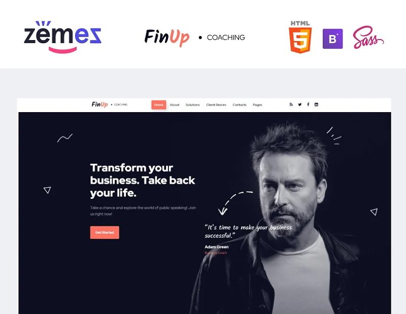 FinUp - Business Coach Website Template